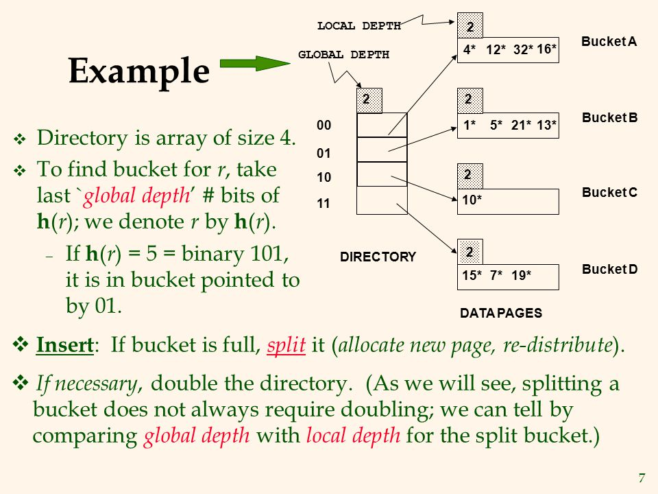 18 LH Described as a Variant of EH v The two schemes are actually quite similar: – Begin with an EH index where directory has N elements.