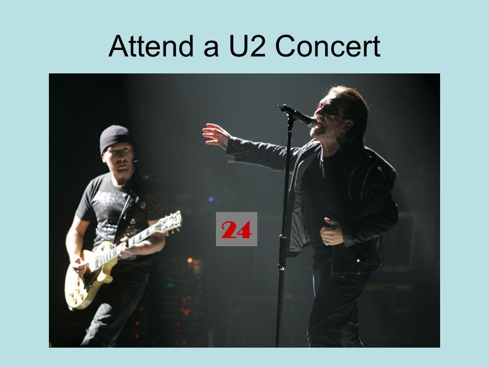 Attend a U2 Concert 24