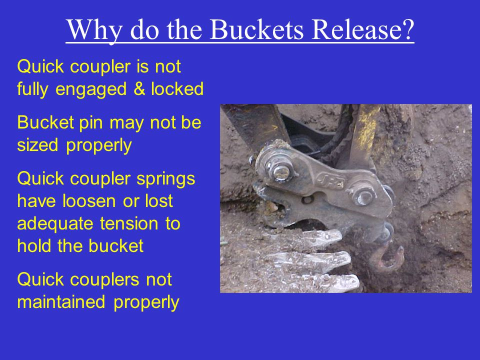 Why do the Buckets Release.