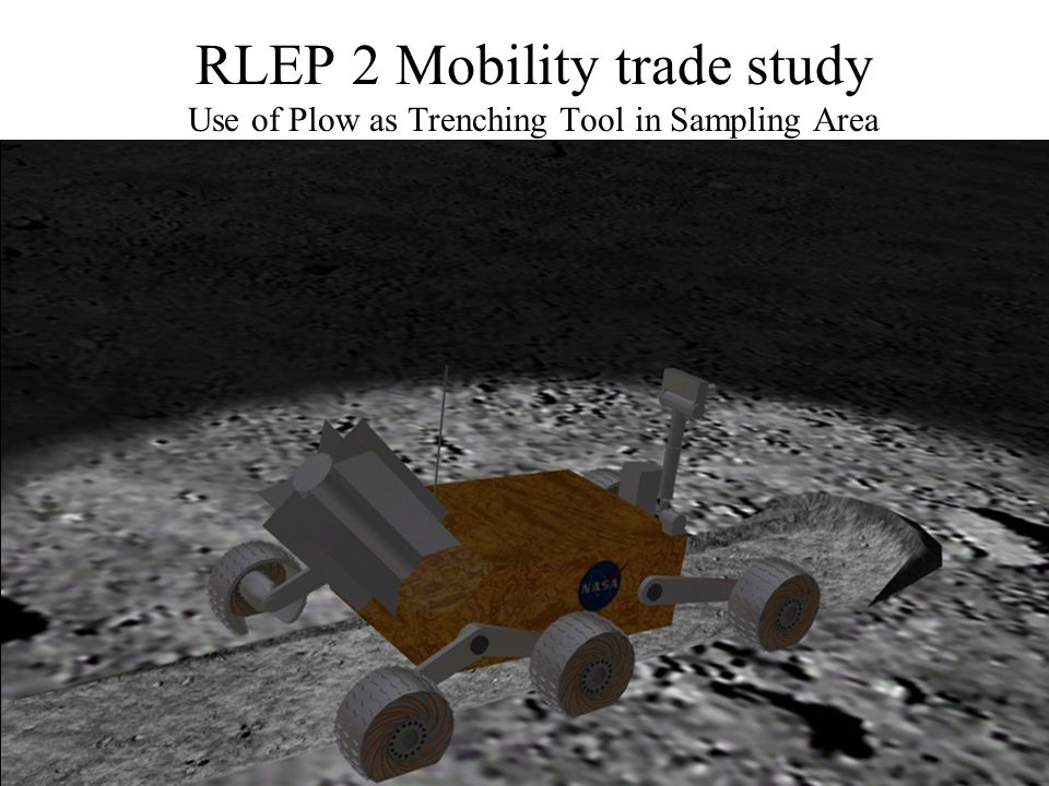 RLEP 2 Mobility trade study Use of Plow as Trenching Tool in Sampling Area