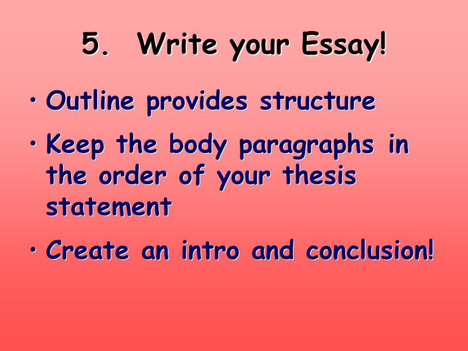The Introductory Paragraph Establish TIME & PLACE.