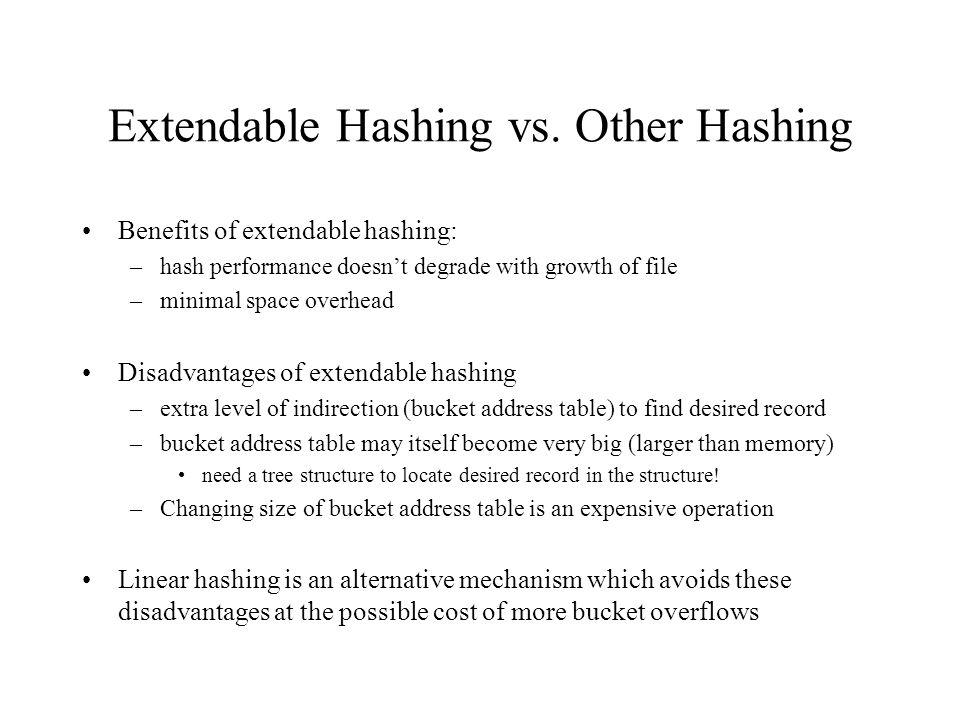 Extendable Hashing vs.