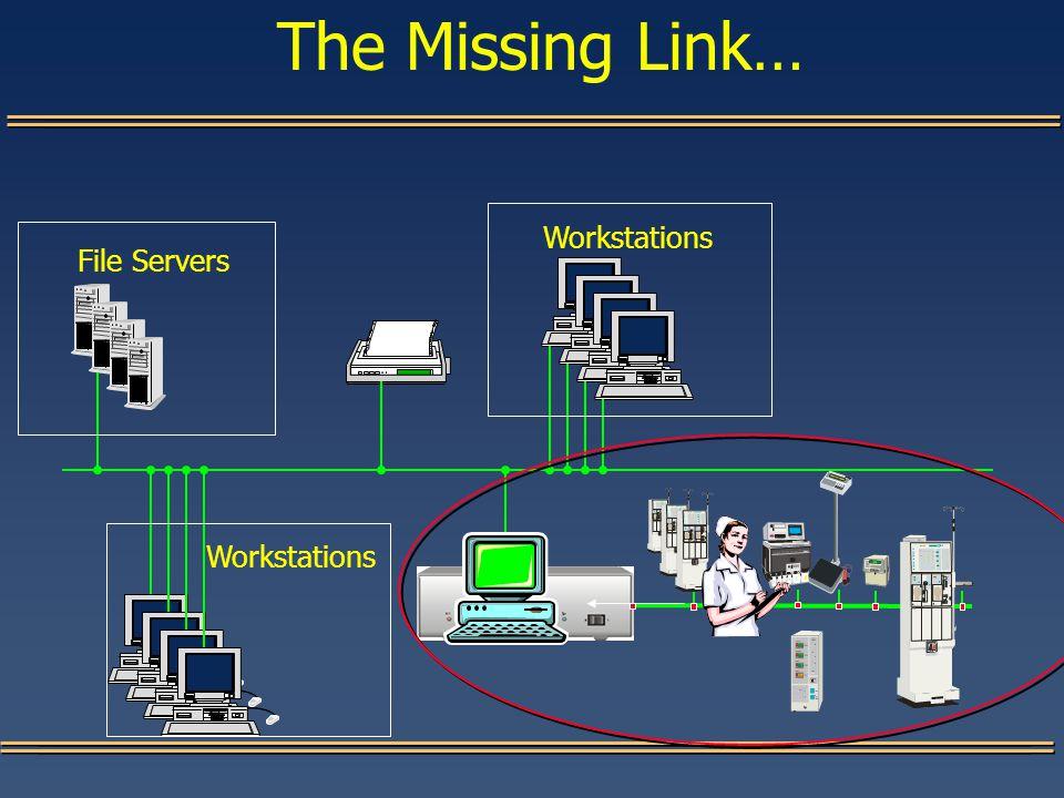 The Missing Link… File Servers Workstations
