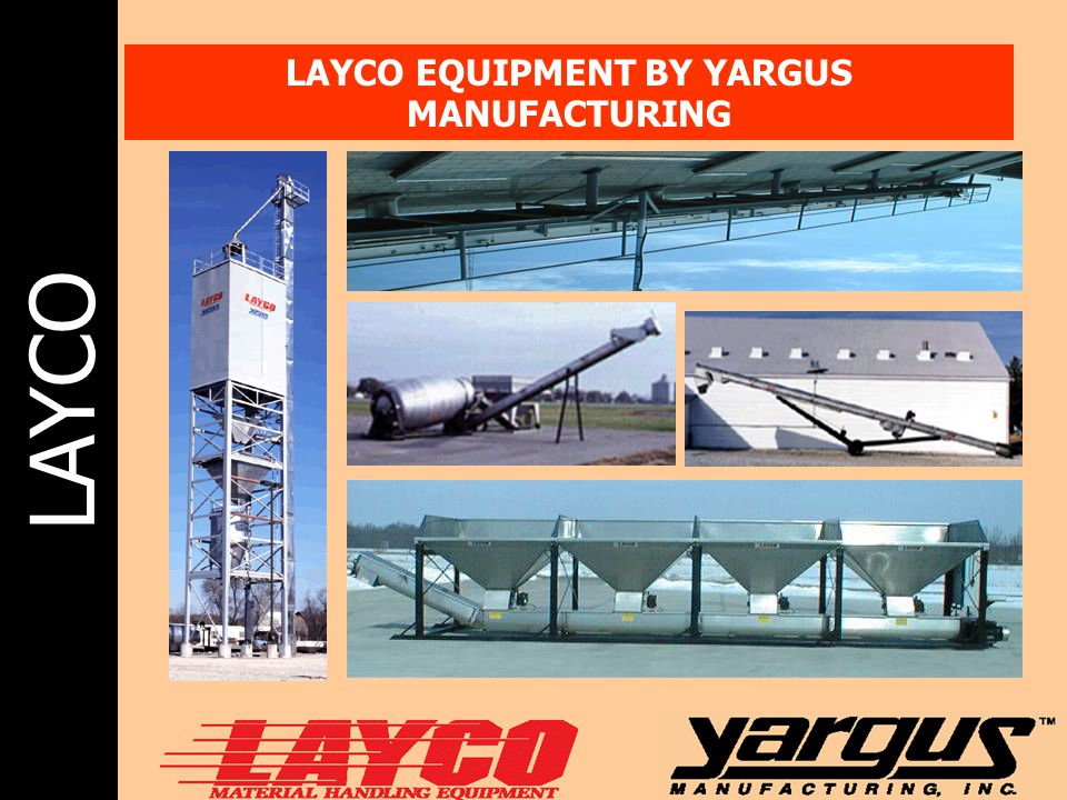LAYCO LAYCO EQUIPMENT BY YARGUS MANUFACTURING