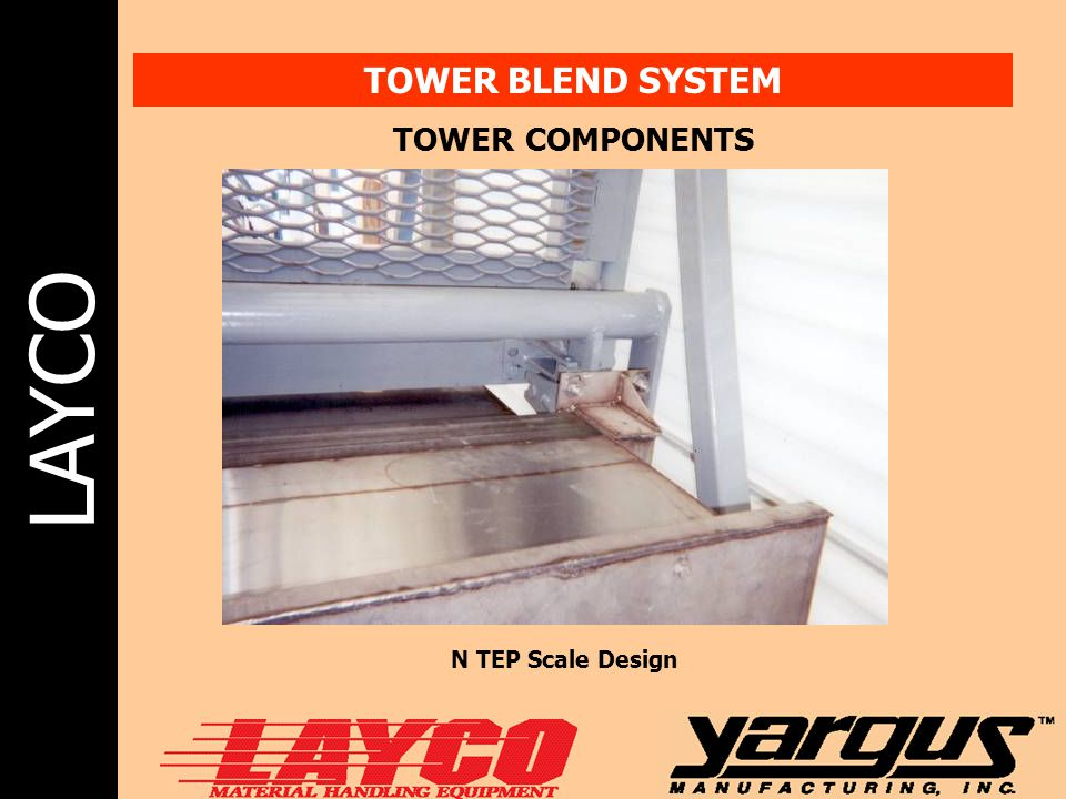 LAYCO TOWER BLEND SYSTEM TOWER COMPONENTS N TEP Scale Design