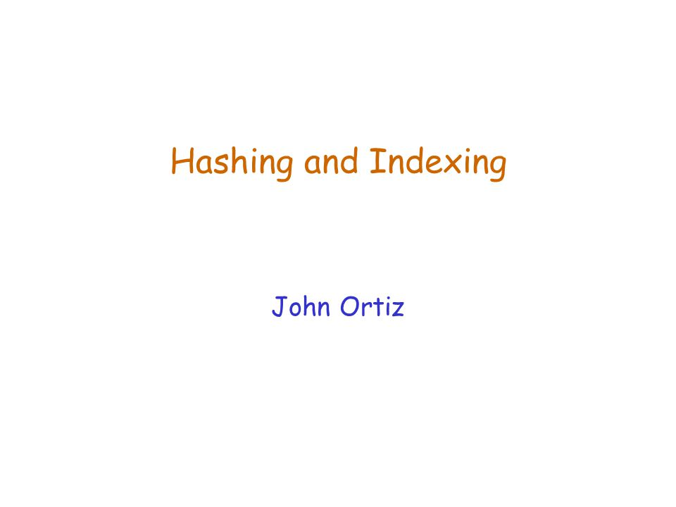 Lecture 18Hashing and Indexing32 Summary (Contd.)  Almost always better than maintaining a sorted file (no sorting, no global moving)  Typically, 67%-70% full on average  Usually preferable to ISAM, modulo locking considerations; adjusts to growth gracefully.