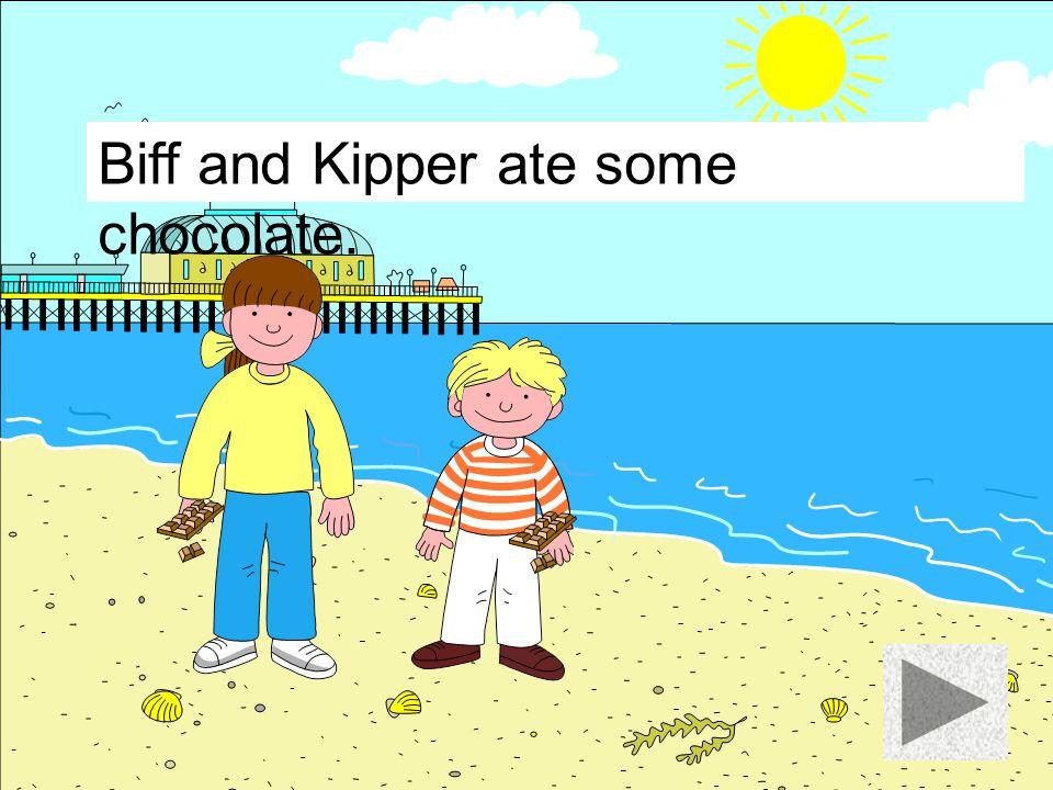 Biff and Kipper ate a burger.