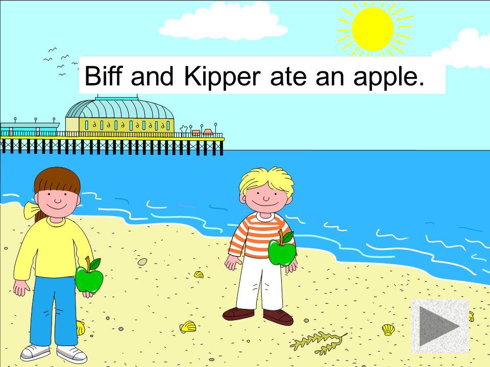 Biff and Kipper ate some chocolate.