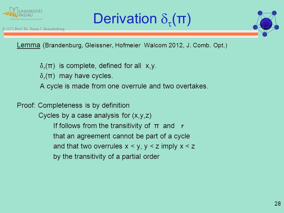 28 © 2012 Prof. Dr. Franz J.