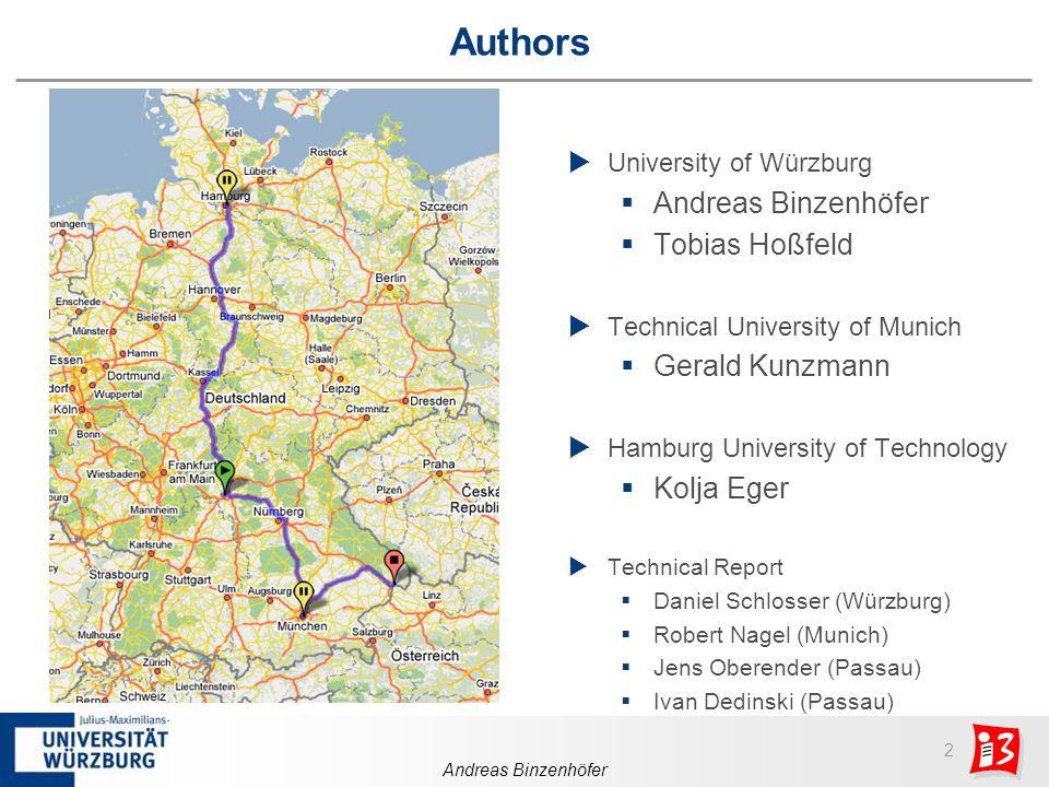 3 Andreas Binzenhöfer Categories of Simulation Efficiency