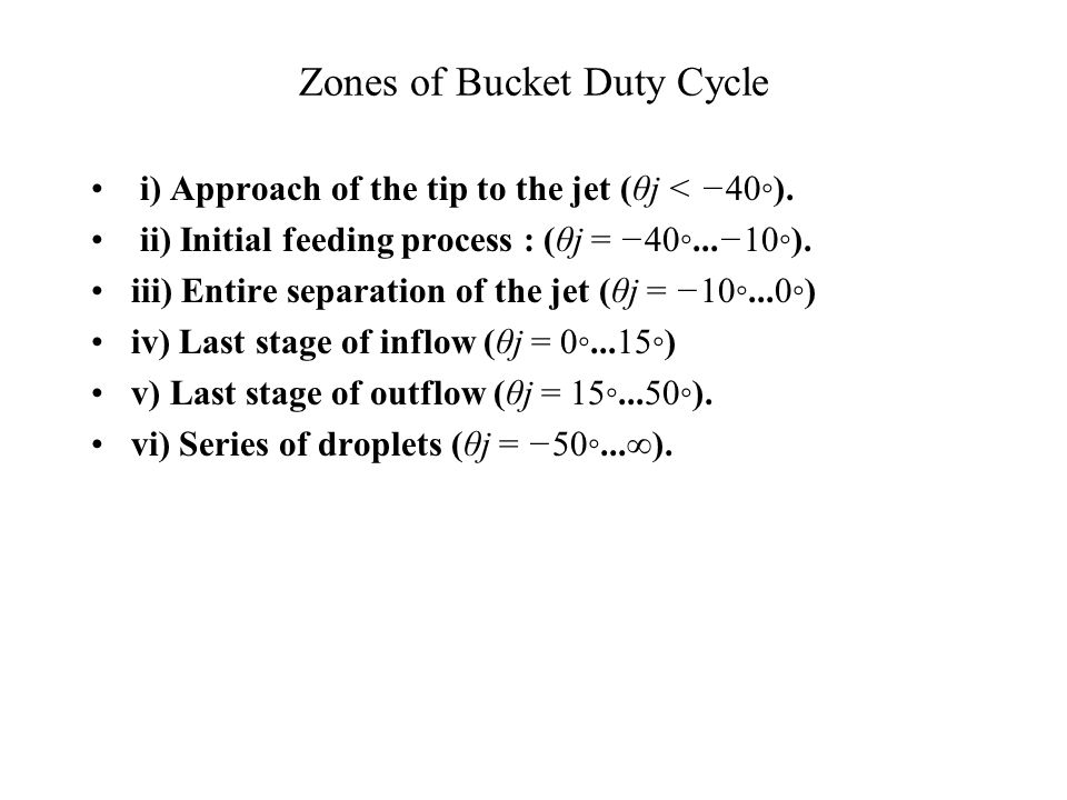 Bucket Duty Cycle Reference Position
