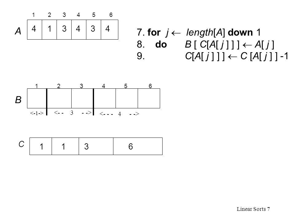 Linear Sorts 7 7.