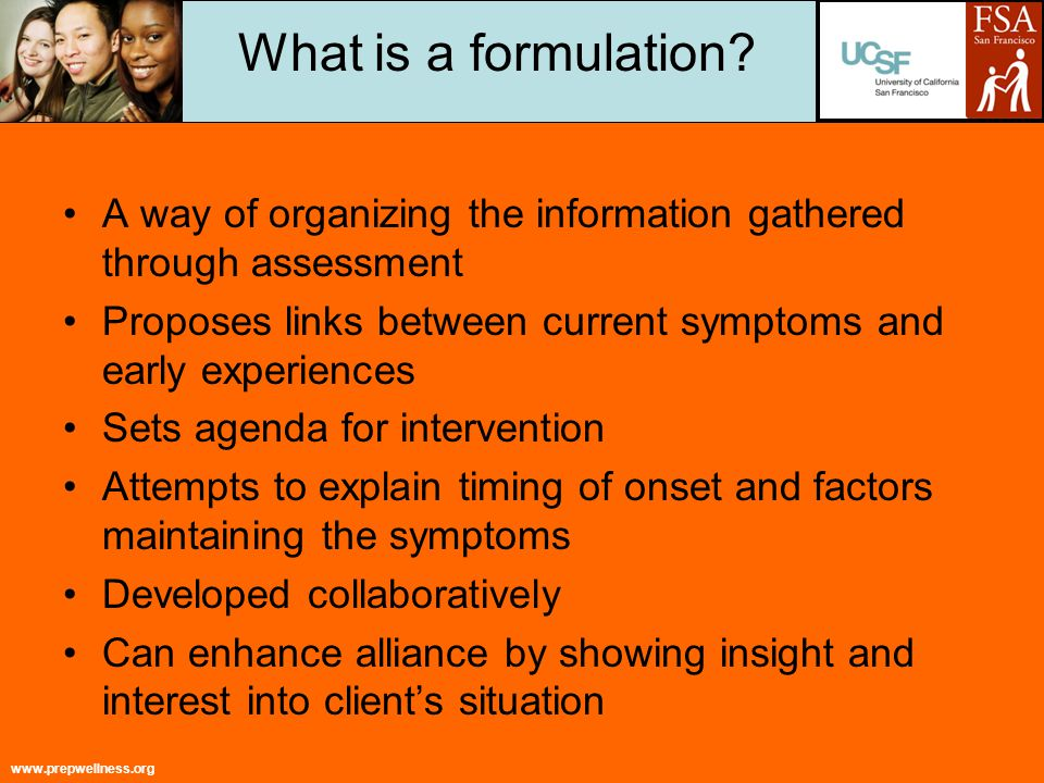 www.prepwellness.org What is a formulation.