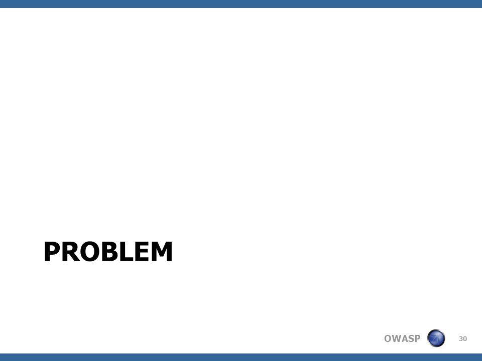 OWASP PROBLEM 30