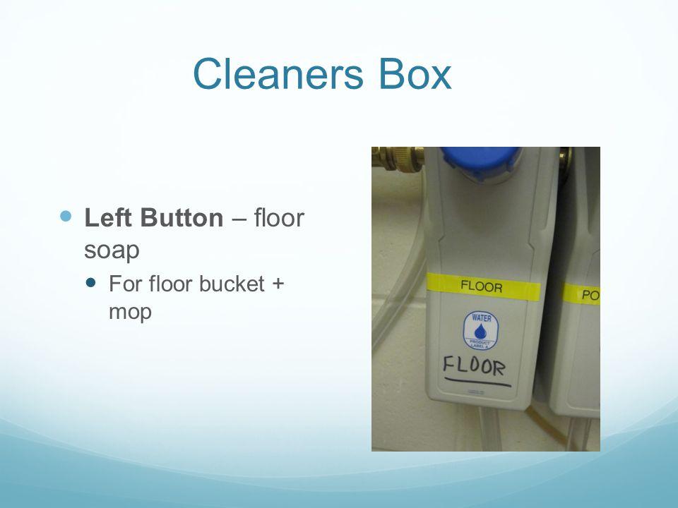Cleaners Box Left Button – floor soap For floor bucket + mop