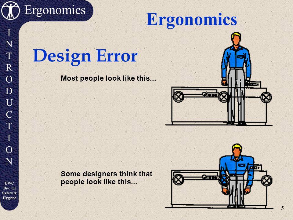 5 Ergonomics INTRODUCTIONINTRODUCTION BWC Div.