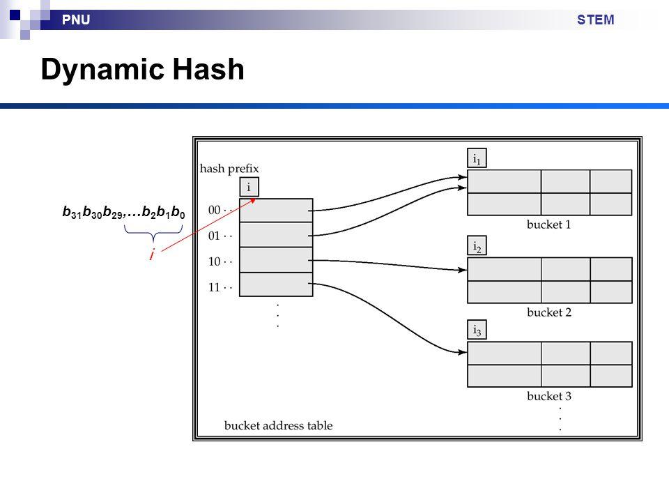 STEMPNU Dynamic Hash b 31 b 30 b 29,…b 2 b 1 b 0 i