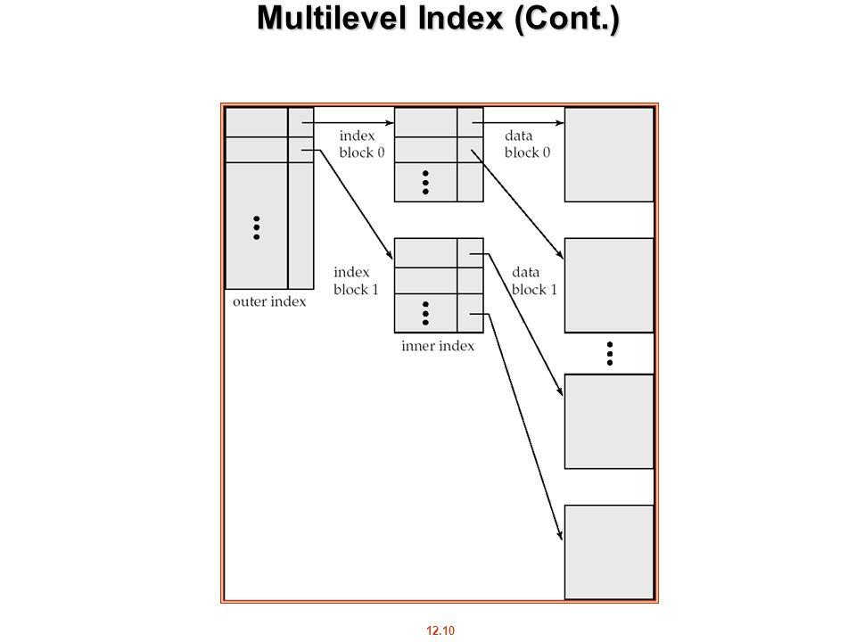 12.10 Multilevel Index (Cont.)