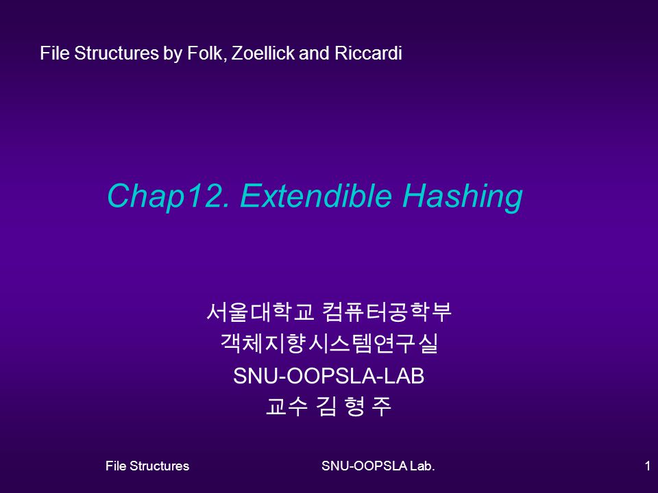 File StructuresSNU-OOPSLA Lab.1 Chap12.