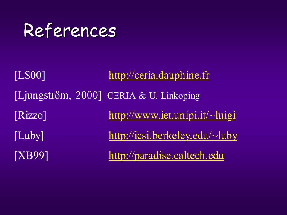 References [LS00] http://ceria.dauphine.frhttp://ceria.dauphine.fr [Ljungström, 2000] CERIA & U.