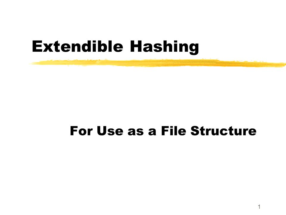 32 Delete Algorithm zHash the key value to delete in the standard way, hashing at level L+1 if necessary.