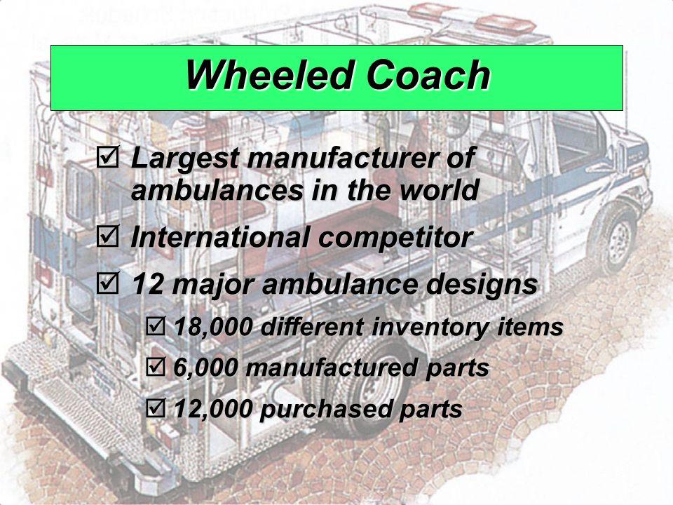 © 2008 Prentice Hall, Inc.14 – 8 Wheeled Coach  Largest manufacturer of ambulances in the world  International competitor  12 major ambulance desig