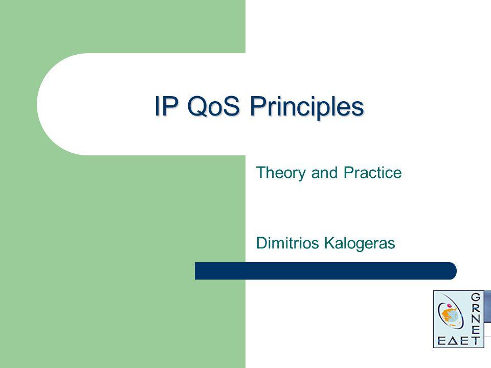 IP QoS Principles Theory and Practice Dimitrios Kalogeras