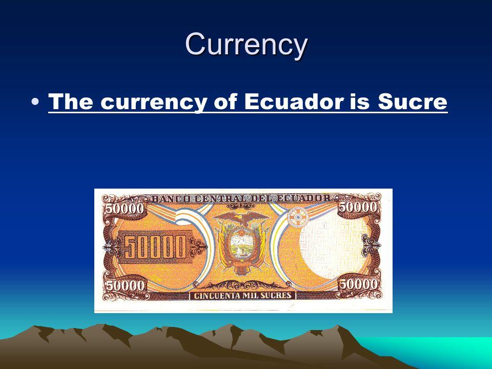 Population –The Population of Ecuador is 13,927,650
