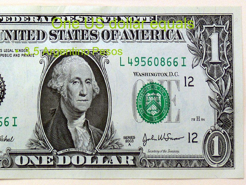 El dinero que se usa en Argentina es Argentino peso