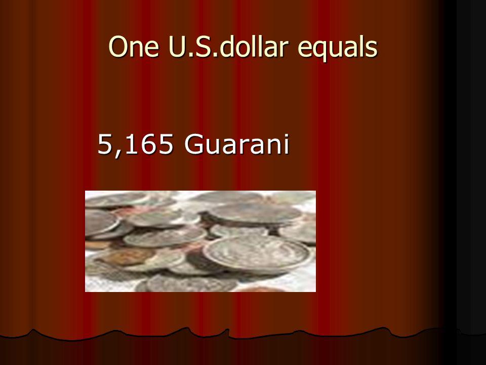 El dinero que se usa en Paraguay es Guarani