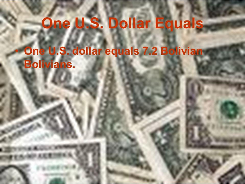 La Moneda (Currency) EL dinero que usa en Bolivia es Bolivian Boliviano.