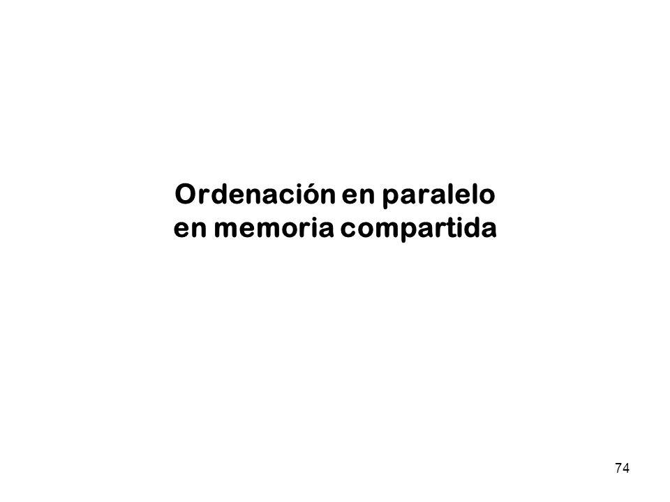74 Ordenación en paralelo en memoria compartida