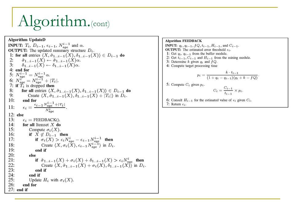 Algorithm. (cont)