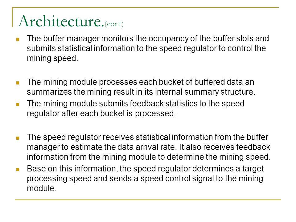 FeedBack Mechanism The core component of AFC is the feedback mechanism, which is implemented in the speed regulator.