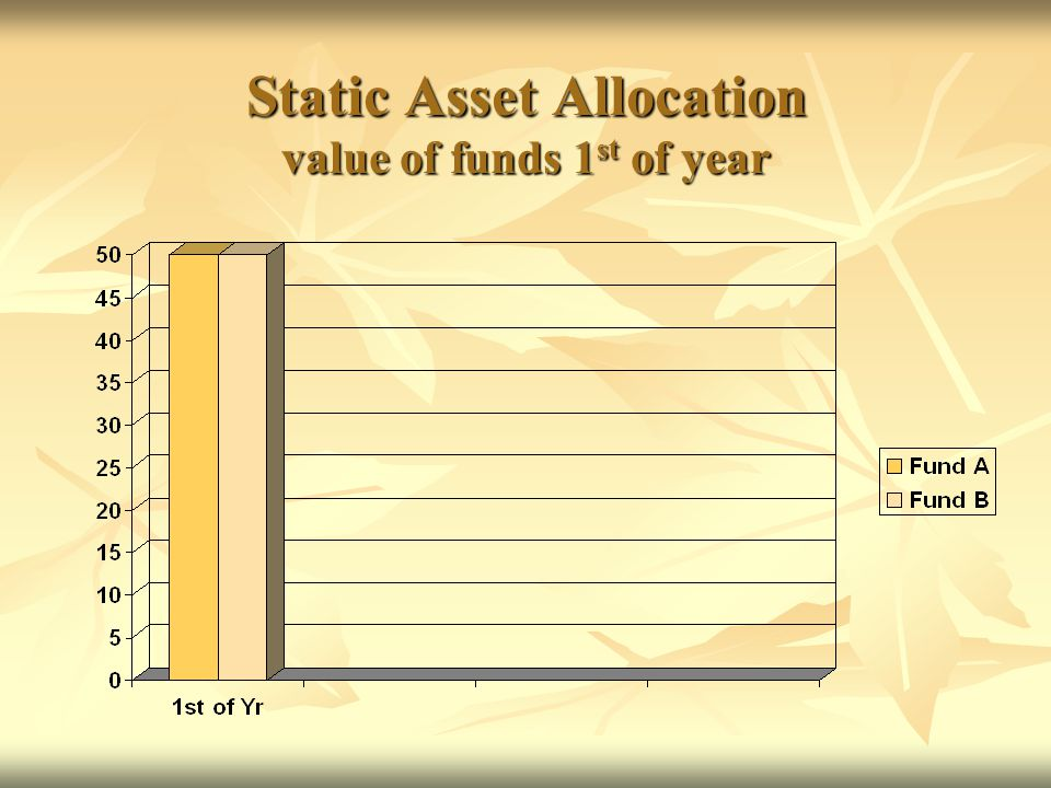 Static Asset Allocation value of funds 1 st of year