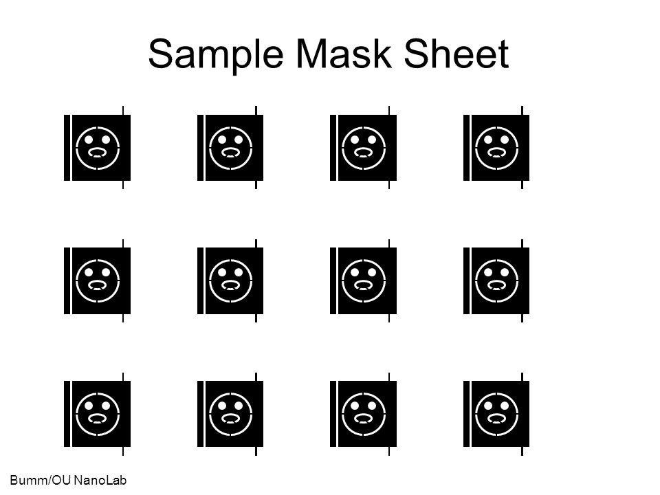 Bumm/OU NanoLab Sample Mask Sheet