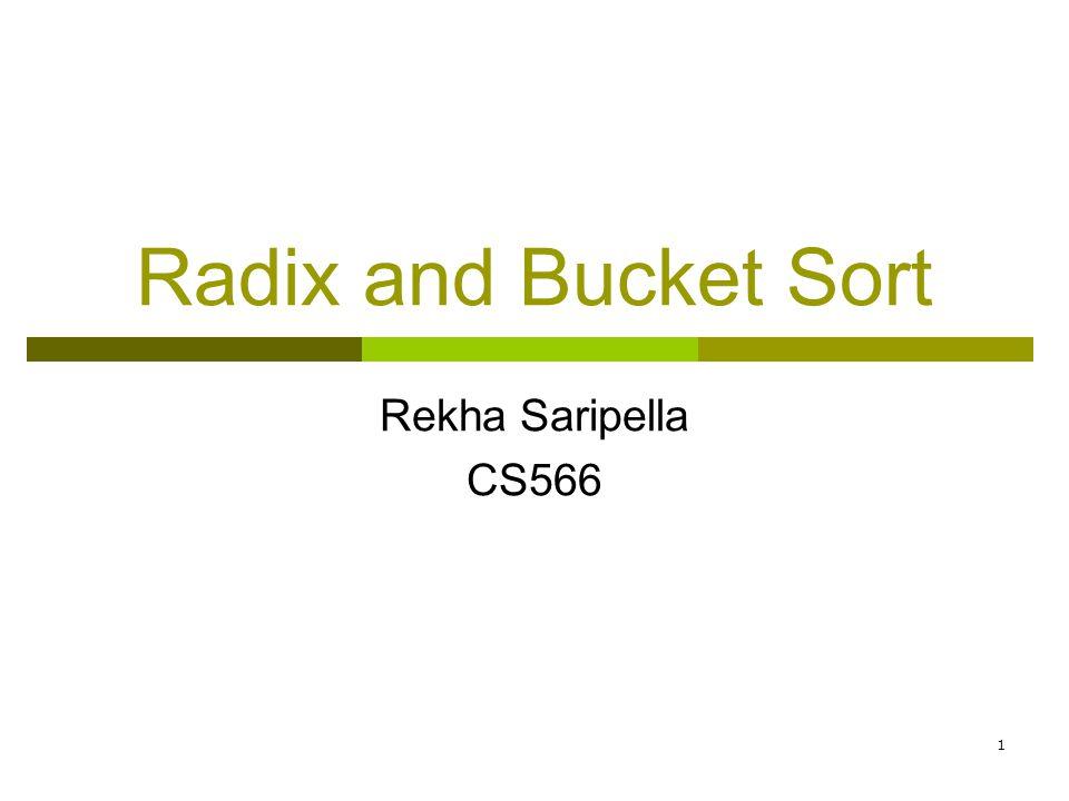 22 Bibliography and References:  http://www.cs.umass.edu/~immerman/cs311/applets/vishal/RadixSort.html - demonstration of Radix Sort.