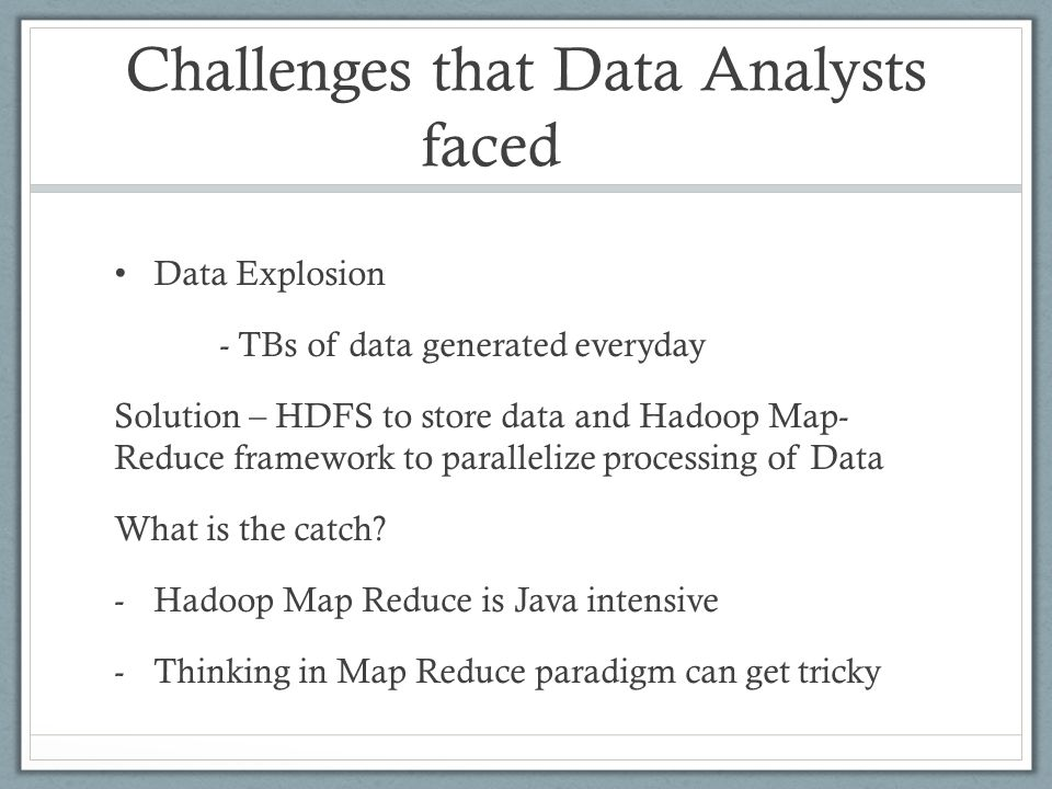 REFERENCES https://hive.apache.org/ https://cwiki.apache.org/confluence/display/Hive/Presentati ons https://cwiki.apache.org/confluence/display/Hive/Presentati ons https://developer.yahoo.com/blogs/hadoop/comparing-pig- latin-sql-constructing-data-processing-pipelines-444.html https://developer.yahoo.com/blogs/hadoop/comparing-pig- latin-sql-constructing-data-processing-pipelines-444.html http://www.qubole.com/blog/big-data/hive-best-practices/ Hortonworks tutorials (youtube) Graph : https://issues.apache.org/jira/secure/attachment/12411185/h ive_benchmark_2009-06-18.pdf