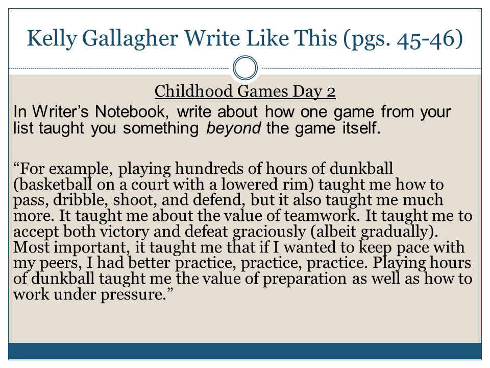 Kelly Gallagher Write Like This (pgs.