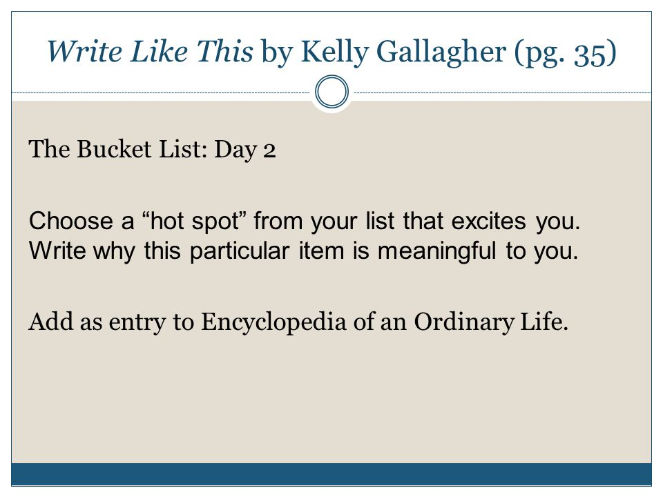Write Like This by Kelly Gallagher (pg.