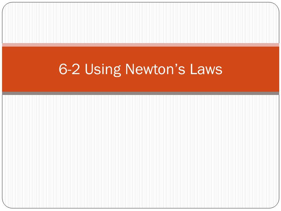 6-2 Using Newton's Laws