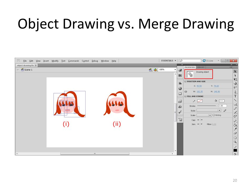 Object Drawing vs. Merge Drawing 20