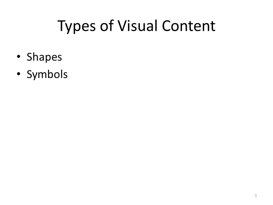 Types of Visual Content Shapes Symbols 3
