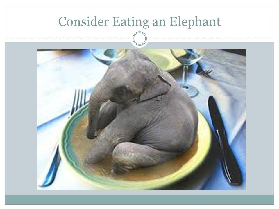 Consider Eating an Elephant