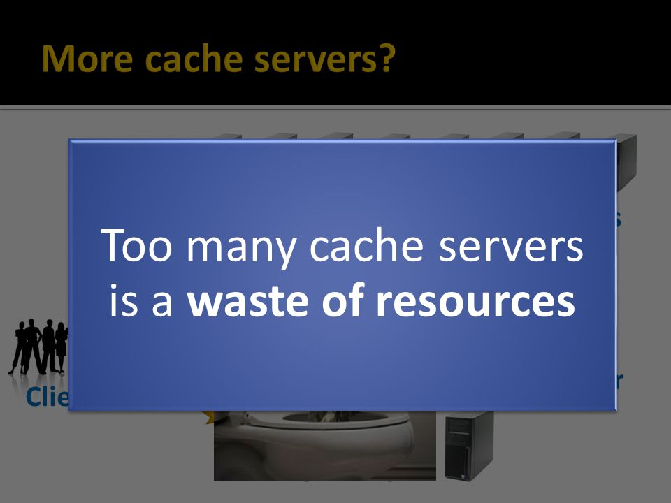 Queries Results Queries Results Clients Memcache servers Database tier Too many cache servers is a waste of resources