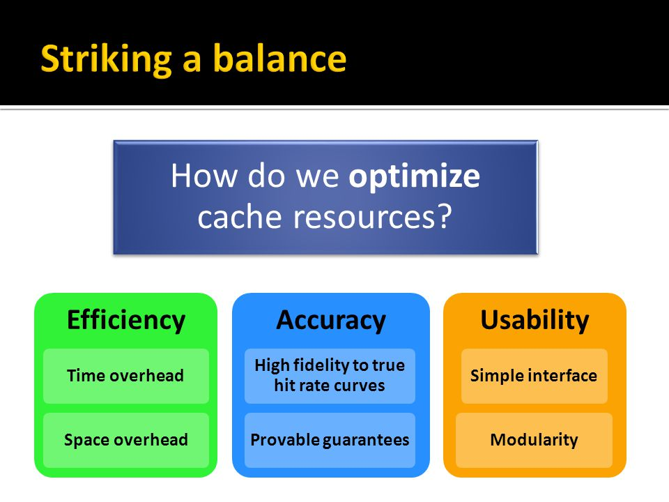 How do we optimize cache resources.