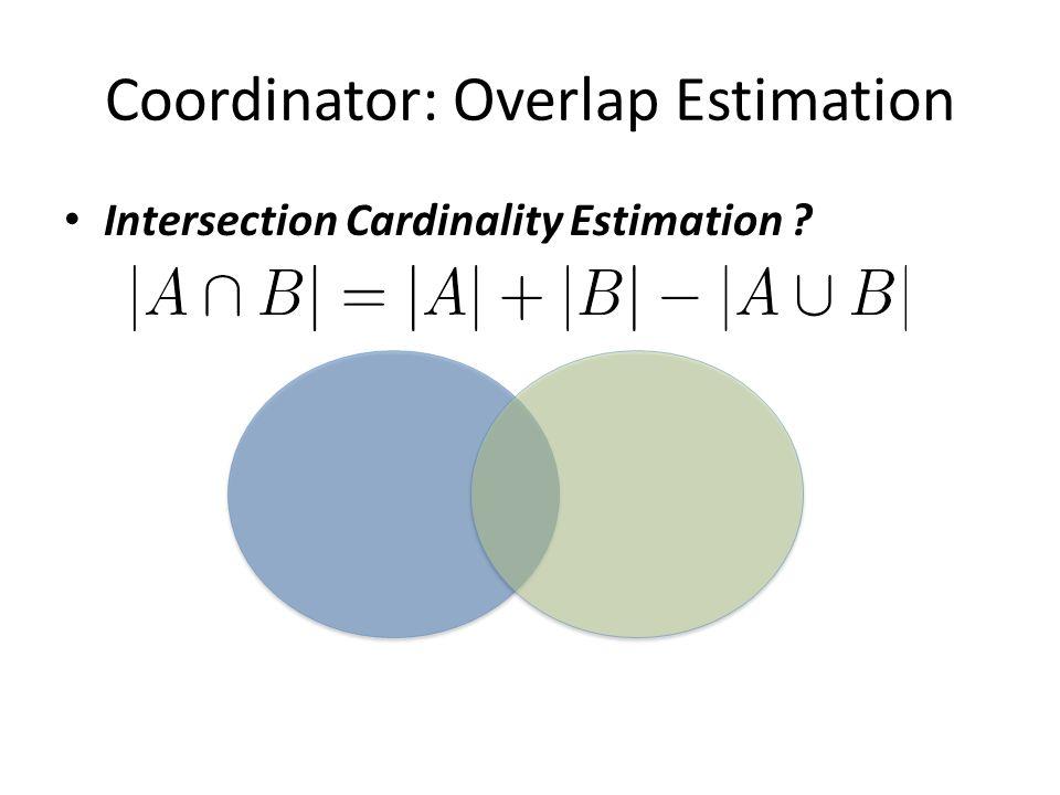 Coordinator: Overlap Estimation Intersection Cardinality Estimation