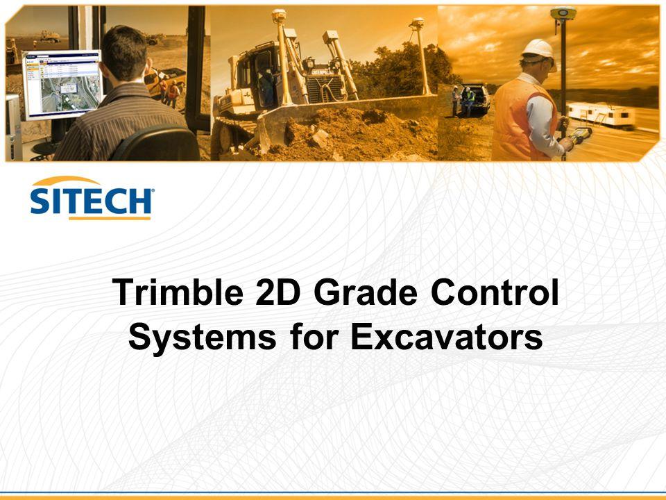 Trimble 2D Grade Control Systems for Excavators
