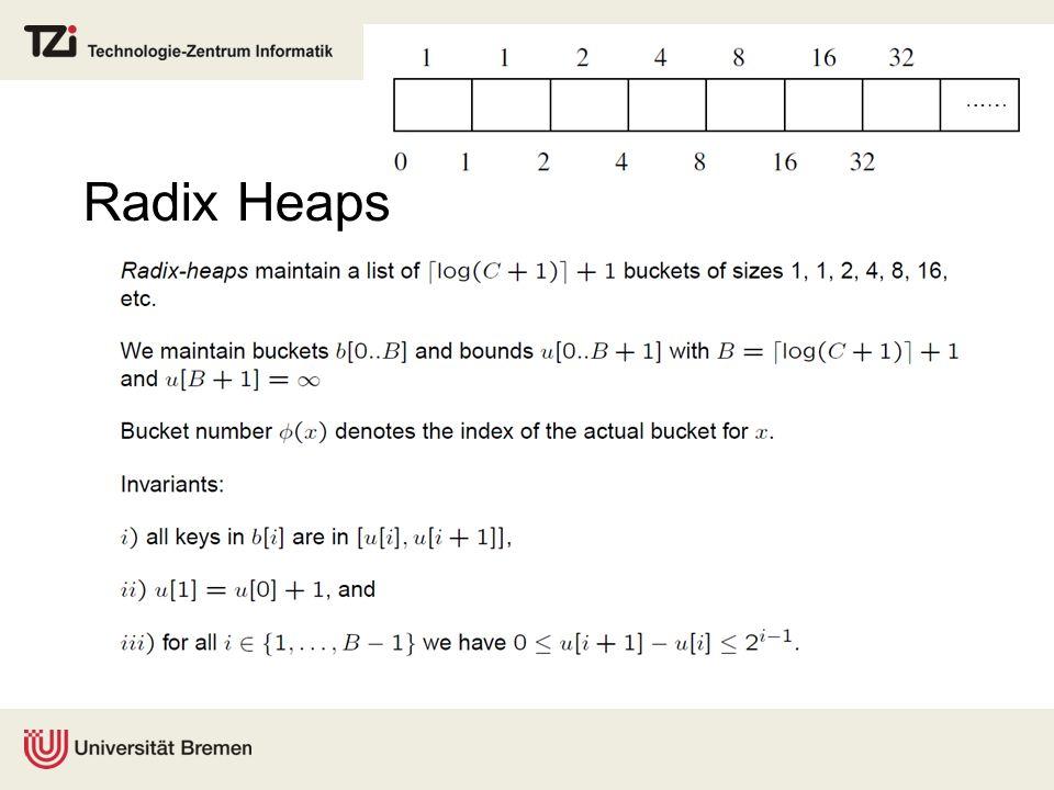 Radix Heaps