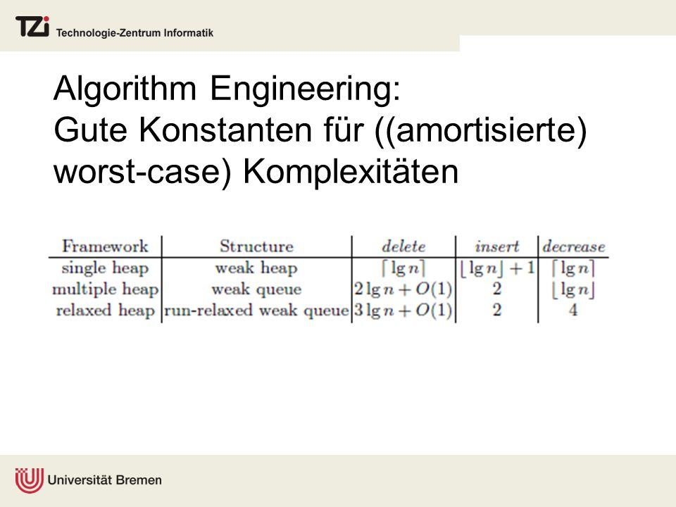 Algorithm Engineering: Gute Konstanten für ((amortisierte) worst-case) Komplexitäten